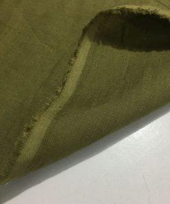 Askeri Yeşil Ham Keten Kumaş S1