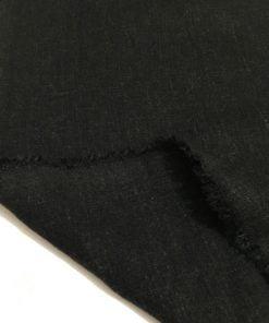 Yıkanmış Ham Keten Kumaş Siyah S1
