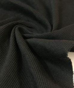 Fitilli Penye Kumaş Siyah S1