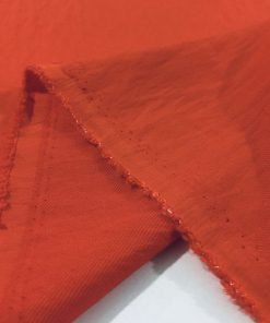 Kırmızı Krinkıl Keten Kumaş S1