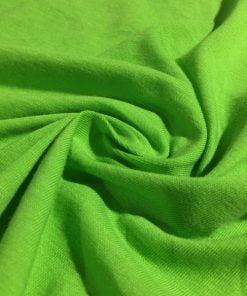 Neon Yeşili Süprem Penye Kumaş S1