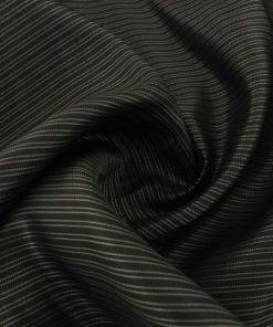 Vakko Çizgili İpek Astar Siyah S1