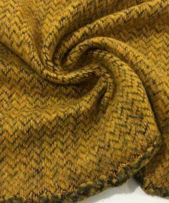 Balıksırtı Örme Triko Kumaş Hardal S1